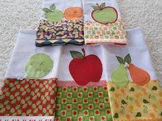 Resultado de imagem para aplicação de frutas em pano de prato