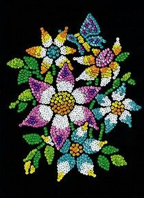 Sequin sewing flower