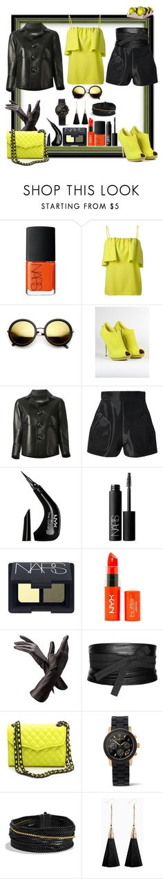 """Not Granny Smith, more like Golden Delicious!"" by ritva-harjula ❤ liked on Polyvore featuring NARS Cosmetics, MSGM, Revo, Dsquared2, Alexander Wang, NYX, Maison Margiela, Rebecca Minkoff, Michael Kors and David Yurman"