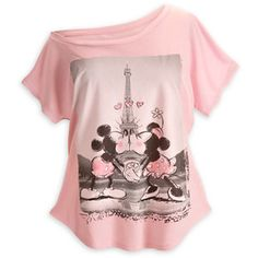 Mickey and Minnie Mouse Off the Shoulder Tee for Women