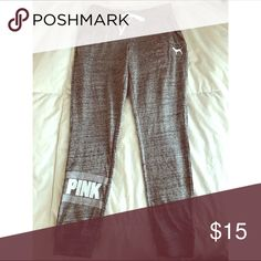 Pink sweatpants Brand new never worn, I ripped the tags off before I tried them on and they didn't fit. They are a thin material PINK Victoria's Secret Pants Track Pants & Joggers