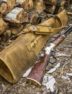 """""""This gun case is 👌👌👌, my Big Boy Carbine 44 mag is a perfect match""""… Rifle Bag, Henry Rifles, Saddleback Leather, Lever Action Rifles, Hunting Rifles, Crossbow Hunting, Gun Cases, Shooting Guns, Leather Holster"""
