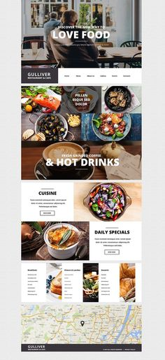Gulliver – Modern Cafe and Restaurant WordPress Theme in UI/UX