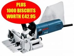 BOSCH GFF22A 240V BISCUIT JOINTER PLUS 1,000 BISCUITS WORTH £42.95