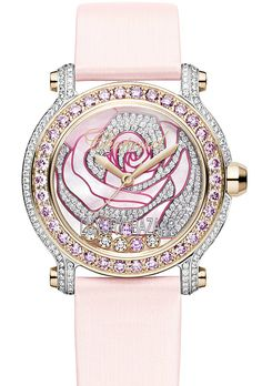 Chopard #pink diamond rose watch
