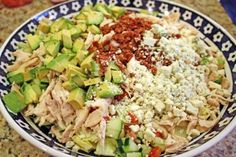 Rotisserie chicken chopped salad from Williams-Sonoma.