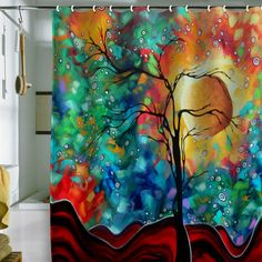 Madart Inc. Bursting Forth Shower Curtain  ALL RIGHTS RESERVED, COPYRIGHT PROTECTED