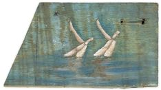 Synchronswimming, 17 x 30 cm, Oil on wood Contemporary Art, Oil, Artist, Painting, Kunst, Painting Art, Artists, Paintings, Painted Canvas