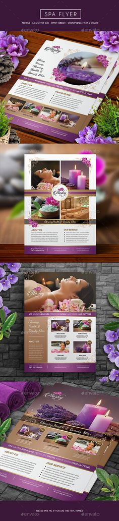 Spa Flyer Template PSD #design Download: http://graphicriver.net/item/spa-flyer/13594620?ref=ksioks
