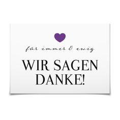 Dankeskarte Für immer und ewig in Violett - Postkarte flach #Hochzeit #Hochzeitskarten #Danksagung #elegant #Foto #modern https://www.goldbek.de/hochzeit/hochzeitskarten/danksagung/dankeskarte-fuer-immer-und-ewig?color=violett&design=ec4a6&utm_campaign=autoproducts