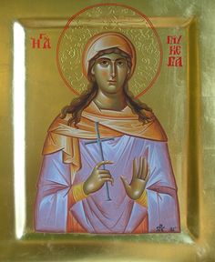 Glykeria the Martyr of Hearaklea in Thrace - May 13 by Dimitrina Stoyanova St G, Byzantine Art, Religious Icons, Madonna, Catholic, Princess Zelda, Faith, Female, Fictional Characters