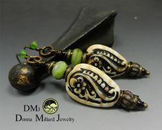SRA Lampwork earrings by Donna Millard