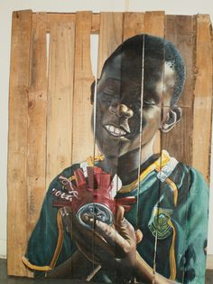 Acrylic on Recycled Wood. Recycled Wood, My Childhood, Objects, Africa, Artsy, Creative, Painting, Salvaged Wood, Paintings