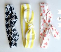Learn how to make a headband small enough for your infant, or one large enough for yourself.