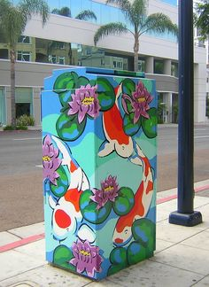 Electric Box, Yarn Bombing, High School Art, Painted Boxes, Animal Logo, Banksy, Community Art, Western Australia, Urban Art