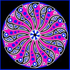"There is a coloring page of this on my other board ""Mandala Coloring Pages.""  See Mandala 482"