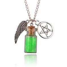 Pentagram Angel Protection Bottle Necklace