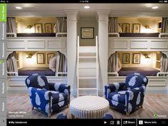 Bunk room. drawers under ladder