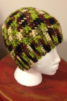 Crocheted Camo hat