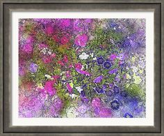 """Framed Print featuring the photograph """"Bouquet Design"""" by Judi Saunders. Many styles and colors frame available."""