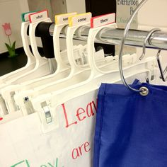 Use these hangers with tabs to hold your posters and big papers!