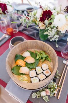Modern Japanese Inspired Rooftop Wedding Inspiration (With Sushi & Uni, Yum!) | CCL Events | Christine Farah Photography 19