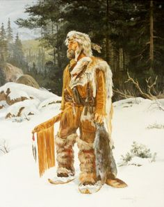 Western Artist Karin Hollebeke Oil Painting The Trapper Rocky Mountains, Ken Parker, Mountain Man Rendezvous, Fur Trade, American Frontier, Cowboy Art, Southwest Art, Native American Art, American Women
