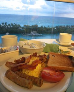 room service breakfast while docked at the port in Bahamas. did I mention its free!