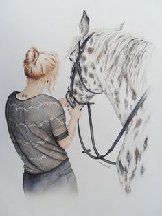 paard aquarel - horse watercolor
