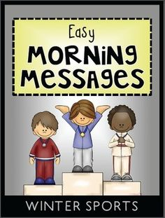 FREE morning messages with a WINTER GAMES theme that are aligned with Common Core are included in this packet. These work great for emergency sub plans or those days when you get pulled from class for a last minute meeting. Answers are included so you could also set this up as a self-checking writing center.
