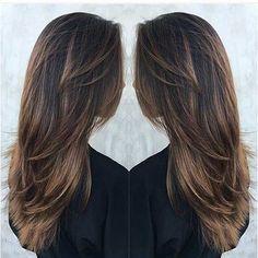 Kahverengi uzun saçlar için saç stilleri | Saç Sırları