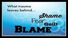 Trauma Related Guilt & Shame: Many trauma survivors experience guilt and shame over what happened to them. It is not theirs to suffer or own. Take steps to learn about the effects of guilt and shame and how it may contribute to Post Traumatic Stress Disorder. Work Related Stress, Practice What You Preach, Feeling Numb, Mental Health Resources, Post Traumatic, Psychology Today, Coping Mechanisms, The Victim, Denial