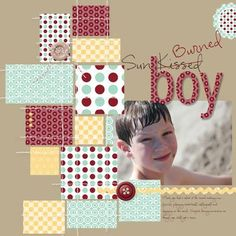 scrapbook pages - love the blocks of patterned paper Disney Scrapbook Pages, Scrapbook Paper Crafts, Scrapbook Cards, Scrapbook Photos, Picture Scrapbook, Kids Scrapbook, Scrapbook Layout Sketches, Scrapbooking Layouts, Scrapbook Designs