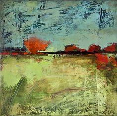 Orange Horizon  2011  mixed media on canvas  24 x 24 inches  $900
