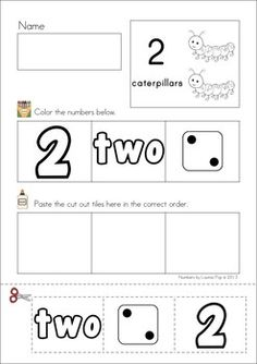 Numbers Cut & Paste (1-10) FREE. Great for scissors and practice and number recognition and beginning representation skills.