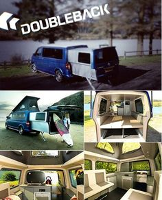 Now this VW Doubleback is the coolest camper ever. Click to find out why.. #coolcamper #VW #spon