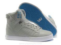 Justin Bieber Supra Shoes Light Grey