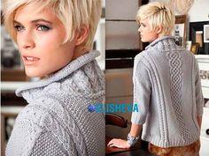 Шикарный женский свитер с аранами и косами от Vogue Knitting, вязаный спицами