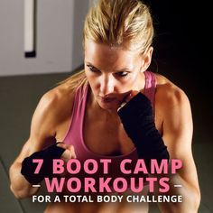 Be your own drill sergeant and push yourself by trying any one of these 7 Boot Camp Workouts on your way to a strong, healthy body. #bootcampworkouts #workouts