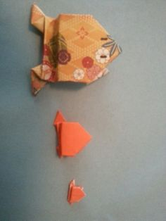 Oragami frogs from Japan!