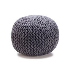 21 Great Value New Buys for Your Home: Knitted Ottoman - Charcoal $29 from KMart, via WeeBirdy.com.