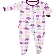 Magnificent Baby romper, which opens and closes with magnets.