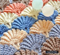 Clam shell crochet pattern