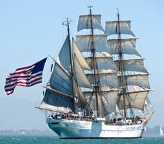 USCG Barque Eagle - New SF Marina Pier to host Tall Ships as part of a bicentennial celebration of the War of 1812