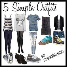 5 Simple Outfits♥ - Polyvore