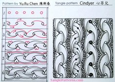 Image copyright the artist, ALL RIGHTS RESERVED. Please feel free to refer to the step outs to recreate the tangles from this site in your Zentangles and ZIAs, or link back to any page. However the artists and TanglePatterns.com reserve all rights to these images and they should not be pinned, reproduced or republished. Thank you for respecting these rights.