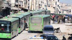 Nadat het Syrische leger Aleppo terug in zijn greep kreeg, werd er na onderhandelingen werk gemaakt van de evacuatie van 5000 rebellen en hun familieleden uit Oost-Aleppo. Ze werden vervoerd via een humanitaire corridor van 21 kilometer lang naar plaatsen in de provincie Idlib die in handen zijn van rebellen.