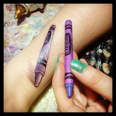 Harold and the Purple Crayon | 50 Incredible Tattoos Inspired By Books From Childhood