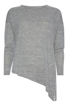 Primark - Grey Asymmetric Long Sleeve Top