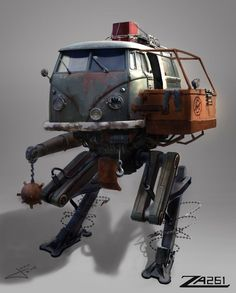 I wanted to design a radrod mecha perfect for taking out zombies. Robot Picture, Steampunk Artwork, Sci Fi Anime, Post Apocalypse, First Art, Cartoon Pics, Dieselpunk, Spacecraft, Zombies